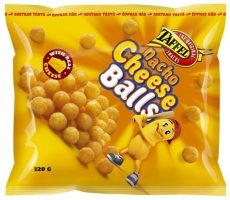 TAFFEL NACHO CHEESE BALLS 120G M JUUSTOSNACKS
